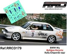 DECAL/CALCA 1/43; BMW M3; Bohigas-Recarte; Rally Empordà 1997