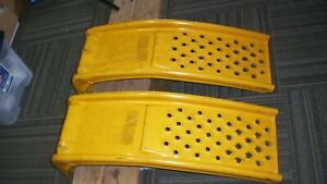 2 steel car ramps STRONG  Used for local pickup ONLY vintage USA