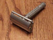 Vintage Gillette Safety Razor Date Code E-1 Excellent Shaver Top Loader
