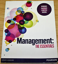 Management The Essentials By Robbins, DeCenzo, Coulter, Woods