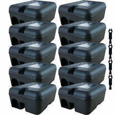 Roshield 10 x Professional Rodent Rat Mouse Bait Box Station for Poison or Traps