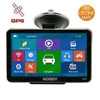 XGODY 5'' 8GB auto Camion GPS Navigatore Navigazione Bluetooth Parasole libero