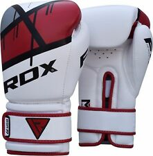 RDX Boxing Gloves Punch Bag Training MMA Muay Thai Fight Sparring Pads Wraps F7