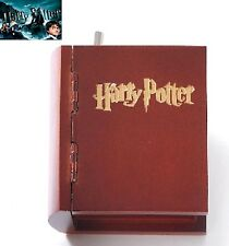 Artisanal Wooden Book Hand Crank Music Box: Harry Potter Hedwigs Theme