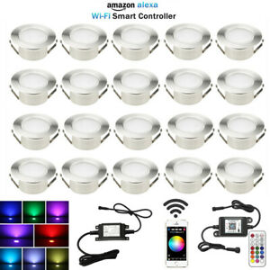 61mm RGB/RGBW Bluetooth Controller LED Deck Lights Garden Pool Walkway Light