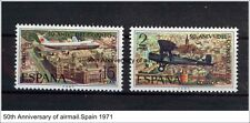 SPAIN 1971 MNH SC.1694/1695 Air Mail Service 50th