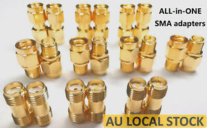 20x Variants SMA RPSMA Male Female Straight Right Angle Adapter Converter RP J K