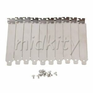 10pcs Computer Case PCI Slot Bracket Blank Filler Cover Plate with Screw