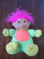 "1993 Soma Troll Doll 11"" Electronic Eyes Light Up Pink Hair"