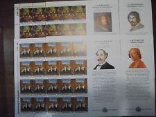 SAN MARINO 2010 MAESTRI D'ARTE 4 MINIFOGLI M.F. BANDELLA LATERALE NUOVO INTEGRO