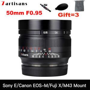 7artisans 50mm F0.95 APS-C Manual Focus Lens for Canon Nikon Sony Fujifilm M43
