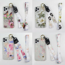 Frosted Flower Hot Fashion Wristband Lanyard Soft Phone Case Cover For Samsung