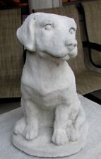 CONCRETE LABRADOR DOG STATUE,MEMORIAL, PET GRAVE MARKER