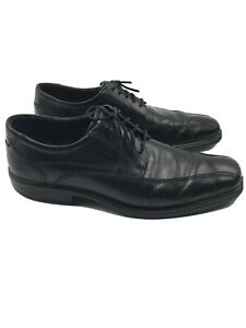 Mens Ecco Shoes Black Lace Up Dress Oxford Size 45 11/11.5 Casual Shock Point