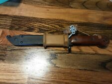 Post World War Two Hungarian automatic rifle bayonet and scabbard