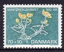 Dinamarca estampillada sin montar o nunca montada 1972 100th aniversario de la casa para los discapacitados