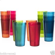 Cafe Break-Resistant Plastic 20oz Restaurant-Quality Beverage Tumblers
