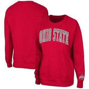 Ohio State Buckeyes Colosseum Women's Campanile Pullover Sweatshirt - Scarlet