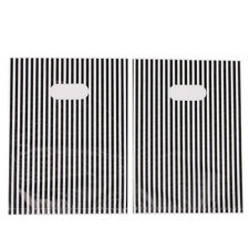 100pcs Lots Plastic Carrier Bags White&Black Stripe Design Boutique Package J