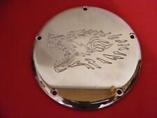 Harley Davidson Twin Cam  5 Hole Brass Derby Cover Wolf Machined
