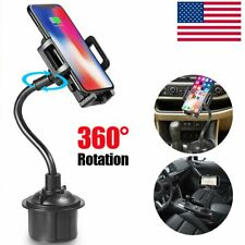 Universal Car Mount Cup Cell Phone Holder Adjustable Gooseneck GPS Stand Cradle