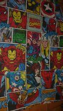 MARVEL COMICS RETRO SINGLE QUILT DUVET COVER & PILLOW CASE- IRON MAN, SPIDERMAN,