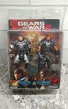 GEARS OF WAR 2 MARCUS FENIX & DOMINIC SANTIAGO FIGURES NECA PLAYER SELECT NRFP