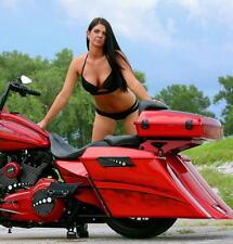 CHROME-E-O Black Harley Bagger Saddlebag Latch Face Plate Covers 1993-2013