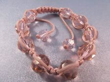 Pink Shamballa Chinese Crystal Faceted 12mm Bracelet 1pc