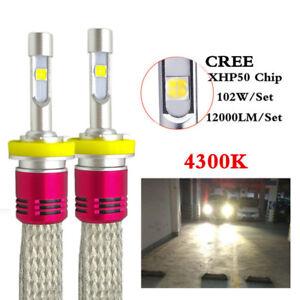 Car CREE XHP50 LED Headlight bulb 12000LM 4300K H4 H7 H11 D2S D1S Auto lamp fog