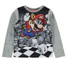 Boys Official Long Sleeved Nintendo Super Mario T-shirt 3 Through to 12 13 Years