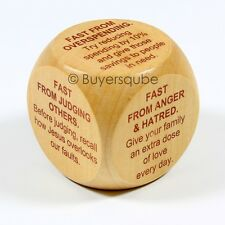 """Fasting Prayer Cube (6 Prayers) Religious Item 1 5/8"""" """"Fast from Anger & Hatred"""""""