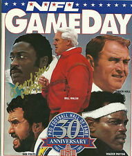LARRY LITTLE AUTOGRAPHED 93 PRO FOOTBALL HOF GAMEDAY MAGAZINE MIAMI DOLPHINS