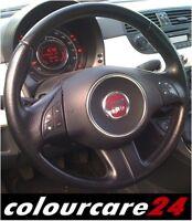 Kit Rigenera Colore Volante Pelle vernice Fiat 500 Punto NERO Ritocco Interni 08