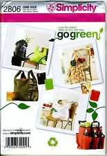 Market Tote Bags - Go Green Eco Chic Bag Pattern