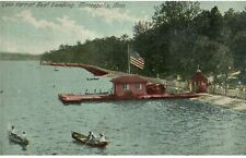 Vintage 1910 Postcard Lake Harriet Boat Landing Minneapolis MN Minnesota