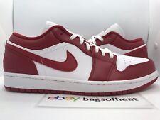Nike Air Jordan Retro 1 Low Gym Red White Sz 9.5 553558-611 AUTHENTIC BRAND NEW
