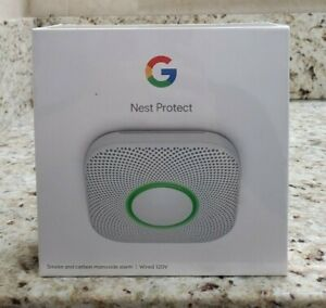 Nest Protect Smoke Carbon Monoxide Alarm (2nd Generation Wired S3003LWES) NEW