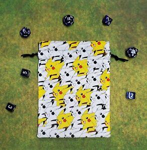 Nintendo Pokemon Pikachu Packed dice bag, card bag, makeup bag, small gift bag