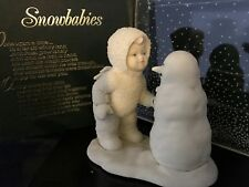 """Department 56 SNOWBABIES Bisque Figurine """"WHY DON'T YOU TALK TO ME''"""