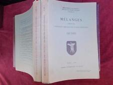 MELANGES/INSTITUT DES HAUTES ETUDES CHINOISES/CHINA/2 BOOKS/RARE 1957 & 1960