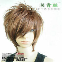 New Fashion Short Light Brown Man Wig Cosplay Party Wig Free Shipping NEW