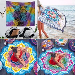 Bohemian India Tapestry shawl Hippie Boho Beach Picnic Throw Towel Mat Blanket