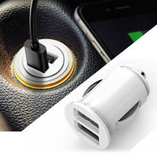 White Auto Truck Dual 2 Port USB Mini Charger Adapter For iPhone 6s 7 12V Power
