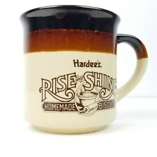 Hardee's Rise and Shine Coffee Mug Homemade Biscuits Brown Restaurant Breakfast