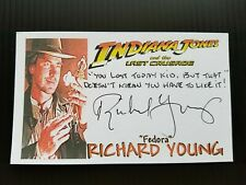 """Indiana Jones And The Last Crusade"" Richard Young Autographed 3X5 Index Card"