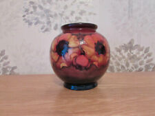 William Moorcroft Globular Shaped Vase,Flambe Anemone Design