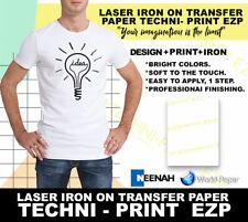 Heat Transfer Paper For Light T Shirts Laser Techni Print Ezp 85x11 25 Sheet