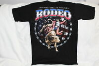 BULL RIDING COWBOY RODEO RIDING WITH PRIDE WESTERN T-SHIRT SHIRT