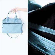 ZARA Women's Studded  Bowling Bag(Sky Blue, Size:M)